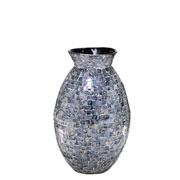 Vaso decorativo de madrepérola cinza 43 cm