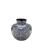 Vaso decorativo de madrepérola cinza 30 cm