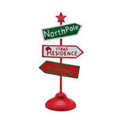 Placa de natal north pole 46 cm