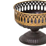 Centro de mesa em metal Rustic 16x13 cm