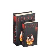 Jogo de livros em MDF Cognac 02 peças