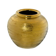 Vaso de cerâmica dourado 20 cm