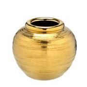 Vaso de cerâmica dourado 16 cm