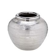 Vaso de cerâmica prata 16 cm