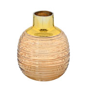 Vaso de vidro caramelo/dourado 20 cm