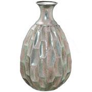 Vaso de metal prata 36 cm