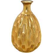 Vaso de metal dourado 36 cm