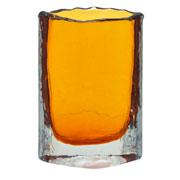Vaso de vidro âmbar 19 cm