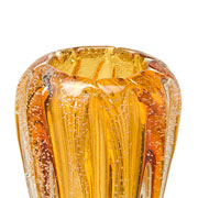 Vaso de vidro âmbar 15 cm