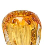 Vaso de vidro âmbar 12 cm