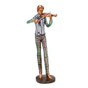 Enfeite de resina musico violino 09x30 cm