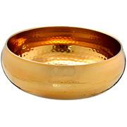 Centro de mesa inox dourado 24x09 cm