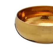 Centro de mesa inox dourado 28x11 cm