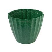 Vaso plissado verde folha 18x15 cm