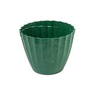 Vaso plissado verde folha 15x12 cm