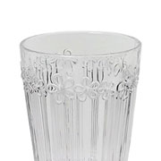 Jogo de taças de vidro Flowers 260 ml 06 peças