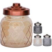 Porta mantimento de vidro xadrez colors 600 ml