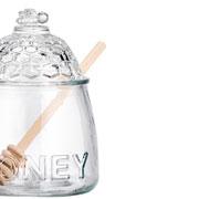 Meleira de vidro honey 16 cm