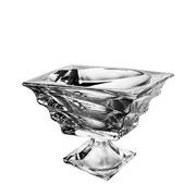 Centro de mesa cristal com pe casablanca 23x19 cm