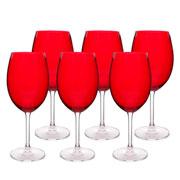 Jogo de taças de cristal red 580 ml 6 peças