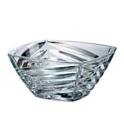 Bowl de cristal facet 28x13 cm