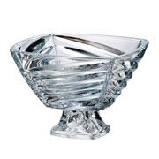 Centro de mesa cristal  com pe facet 40 cm