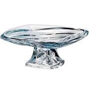 Prato para bolo cristal com pe facet 39 cm