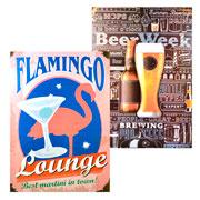 Quadro de madeira Tropical Flamingo 27x30 cm