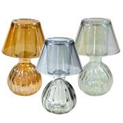 Porta vela de vidro abajur Colors 15 cm
