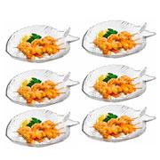 Jogo de pratos para sobremesa marine 20x16 06 peças