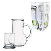 Moringa de vidro com copo oasis 1 litro