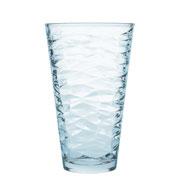 Jogo de copos para água origami azul 330 ml 06 peças