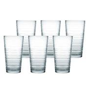 Jogo de copos para água granada fumê 06 peças 345 ml