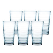Jogo de copos para água granada azul 345 ml