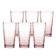 Jogo de copos para água granada rose 345 ml 6 pçs