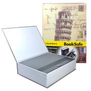 Livro cofre de metal c/ chaves