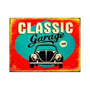 Placa decorativa classic garage 20x26