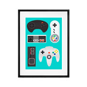 Placa decorativa Games 20x26