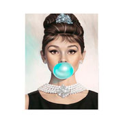Placa decorativa mulher 20x26