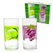 Jogo de copos frutas liverpool 300ml  2 pcs