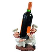Cozinheiros de resina porta vinho