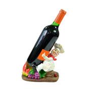 Cozinheiro de resina porta vinho com frutas