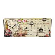 Relógio de mesa decorativo com calendário 36 cm