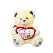 Urso de pelúcia Coração Flores 49 cm