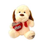 Cachorro de pelúcia com coração Amor