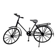 Bicicleta decorativa de metal