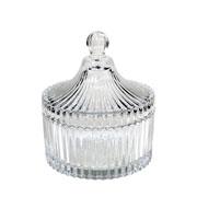 Bomboniere decorativa de vidro 13 cm