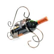 Porta vinho de metal