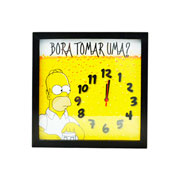 Quadro Relógio Bora tomar uma 31 cm