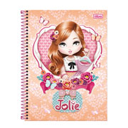 Caderno universitário jolie 01 mt 96 fls